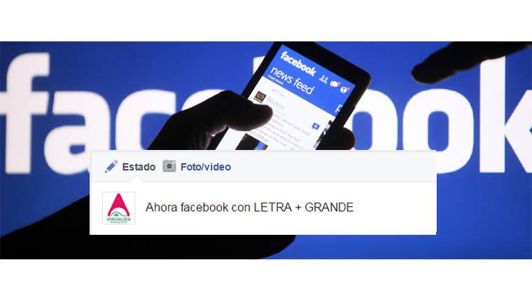 ¿Por qué algunos posteos en facebook se ven con letra más grande?
